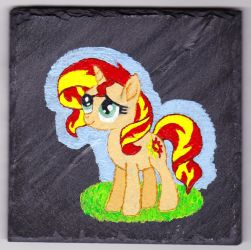 Slate Sunset Shimmer painting by Malte279