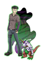 TDA_Bryan and Psychemon by EmeraldSora