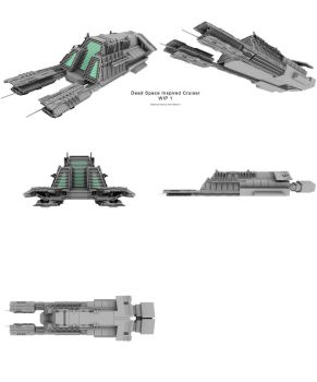 Dead Space Cruiser wip 1 by Mallacore