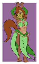 Sasha the Belly Dancer by bigfootRULES