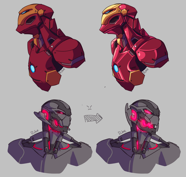 iron men and their offspring by Just-a-drawing-Cat