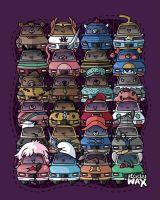 Car Toons by recycledwax