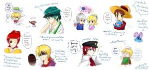 [Sketch] Humanized Rayman Characters 2 by noirjung