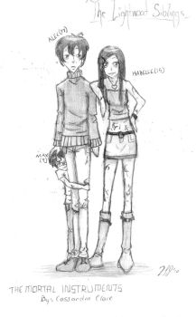 The Lightwood Siblings by OstentatiousNature