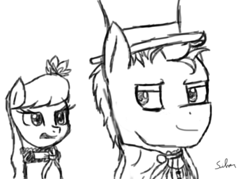 Discord Whooves and Octavia as Lucy and Hyde by silverart02