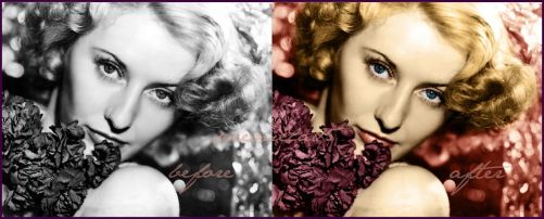 Before and After: Barbara Stanwyck by seremela05