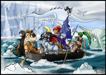 Katja Crossing the Delaware by Blazbaros
