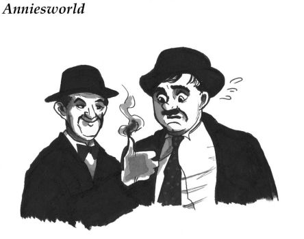 Laurel and Hardy by Annieartworld