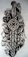 Celtic dagger and bird by Tattoo-Design