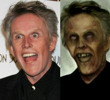 Zombie Busey - before 'n after by BrianManning