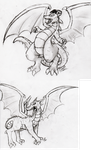 Dragons by Rhay-Robotnik