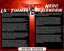 Tournament Match 20: Timmy vs Nero by Dreamkeepers