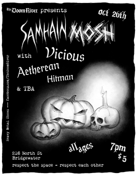 The DoomRiver Show Poster 'Samhain Mosh' by red20