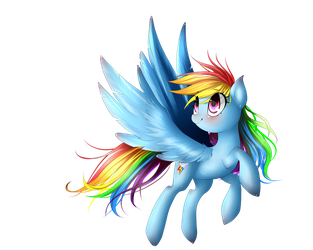 Raibow Dash - not finished by VardasTouch