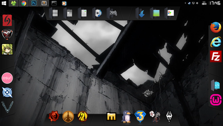 Metal Black theme for Winstep Nexus Dock (Revamp) by TxusMetal4ever