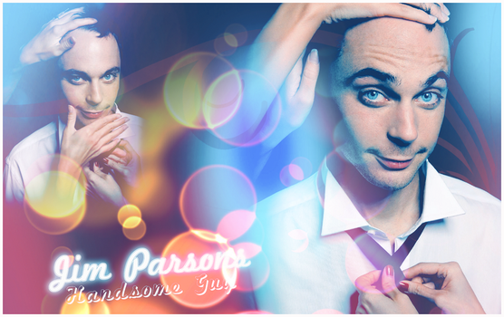Jim Parsons Blue Wallpaper by ManonGG