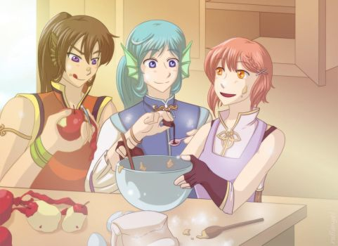 Autumn's Journey - Baking Fun by rufiangel