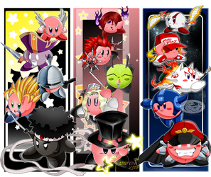 The Many Faces Of Kirby by slimthrowed