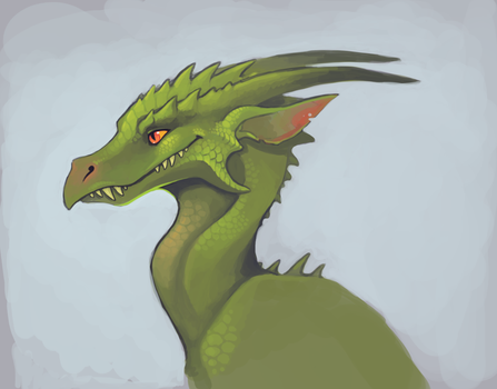 Dragon Portrait April 30 by Aazure-Dragon