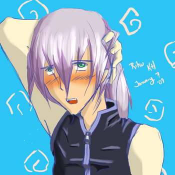 Riku blushing by ShimaGenki