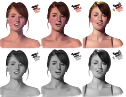 WIP Process - Sara Bareilles by chacuri