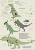 Tyranitar and cousins by Weirda-s-M-art