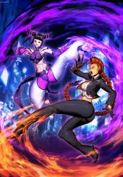 Street Fighter Unlimited 4 cover - Juri VS C.Viper by GENZOMAN