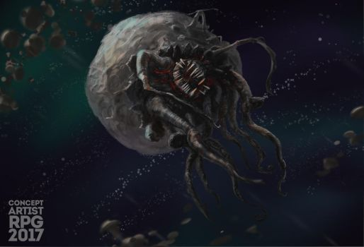 asteroid monster by Kroatosh