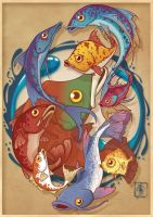 Fish composition colored by IgorSan