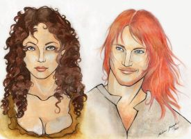 Jamie and Claire WIP by Hele-san
