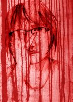 Red Streaked Girl by SineSquared