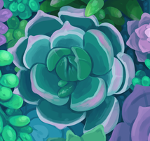 succulent pattern preview by mayakern