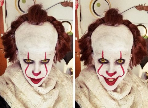 My Pennywise Makeup by LeanAndJess