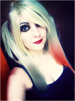 Harley Quinn Makeup and hairstyle test by Dragunova-Cosplay