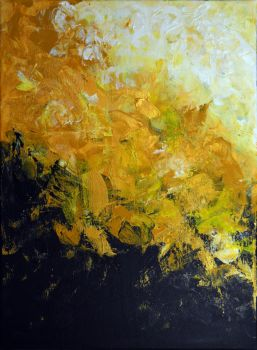 Golden Feelings, 2017, 40-30cm, acrylic on canvas by oanaunciuleanu