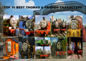 Top 10 Best Thomas and Friends Characters by JasperPie