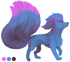Three-Color Ninetales by Quanyails