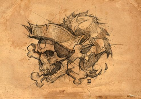 20170719 pirate skull Psdelux by psdeluxe