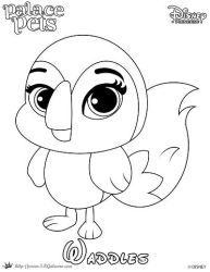 WH Waddles Princess Palace Pet Coloring Page SKGal By SKGaleana