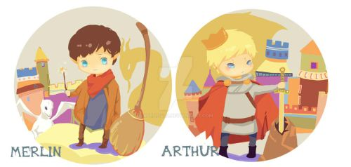 merlin and arthur by aprilis420