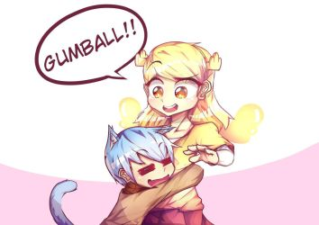 penny and gumball by DaveDwantaraC