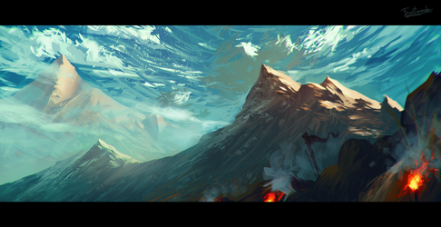 Torches In The Mountains by Frostwindz