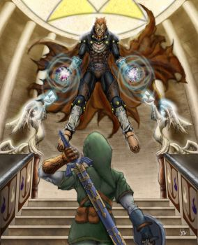 link vs ganon finished by leftee007