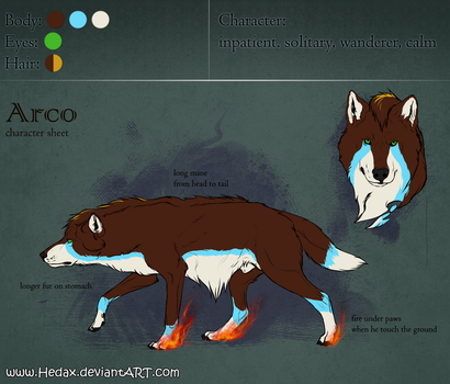 Character Sheet - Arco by Hedax