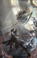 lady Maria and Sister Friede by YeastSoldier