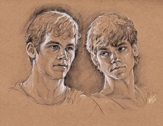The Maze Runner - Thomas and Newt by DafnaWinchester