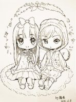 20140608 My chibis by loli-drop