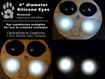 4inch Silicone LED Eyes by CanineHybrid