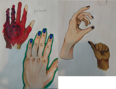 Study Of Hands by ReignofEmery