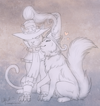 Veigar and Lulu kitties by Bear-hybrid